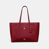 COACH Folio Pebble Leather Tote