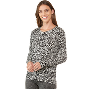 Michael Kors Flat Lux Cat Print Crewneck Sweater