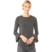 Michael Kors Diagonal Chain Sleeve Top