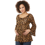 Planet Motherhood Maternity Babydoll Top with Bell Sleeves