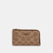COACH Women's Small L Zip Canvas Card Case