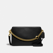 COACH Chain Convertible Signature Leather Crossbody