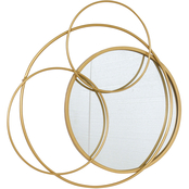Simply Perfect Contemporary Mirror with Iron Circle 23 x 21