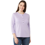 Passports Henley Knit Tunic Top