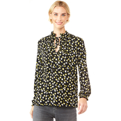 Michael Kors Tossed Lilies Shirred Top