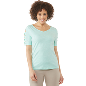 Passports Missy Twist Ladder Sleeve Top