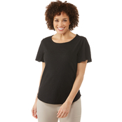Passports Jacquard Scoop Neck Top