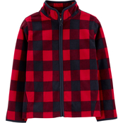 OshKosh B'gosh Little Boys Buffalo Check Full Zip Top