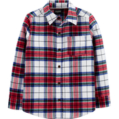 OshKosh B'gosh Little Boys Button Front Plaid Flannel Shirt