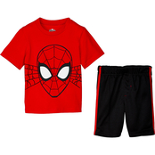 Marvel Little Boys Spider-Man Shirt and Shorts 2 pc. Set