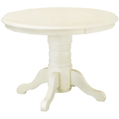 Home Styles White Round Pedestal Dining Table