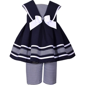 Bonnie Jean Infant Girls Stripe Nautical Dress