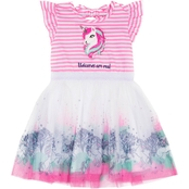 Little Lass Little Girls Unicorns Are Real Knit Tulle Dress
