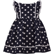 Bonnie Jean Polka Dot Poplin Waistline Dress