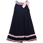 Bonnie Jean Nautical Pleat Poplin Dress