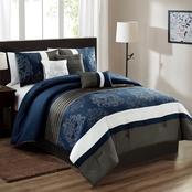 Elight Home Simba Embroidered 7 pc. Comforter Set