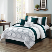 Elight Home Chula Embroidered 7 pc. Comforter Set