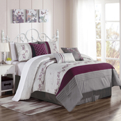 Elight Home Cyrilla Embroidered 7 pc. Comforter Set