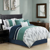 Elight Home Kendra Embroidered 7 pc. Comforter Set