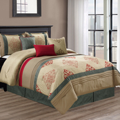 Elight Home Amelia Embroidered 7 pc. Comforter Set