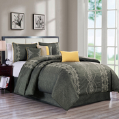 light Home Parry 7 Pc. Embroidered Comforter Set