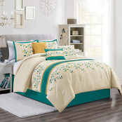 Elight Home Jade 7 Pc. Embroidered Comforter Set