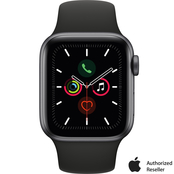 Apple Watch Series 5 GPS + Cellular Space Gray Aluminum Case with Black Sport Band