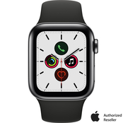 Apple Watch Series 5 GPS + Cellular Black Stainless Steel Case with Sport Band