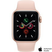 Apple Watch Series 5 GPS + Cellular 40mm Gold Case with Pink Sand Sport Band