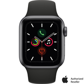 Apple Watch Series 5 GPS Space Gray Aluminum Case with Black Sport Band