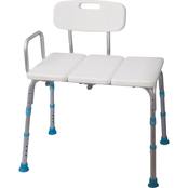 AquaSense Adjustable Bath and Shower Transfer Bench, Off White
