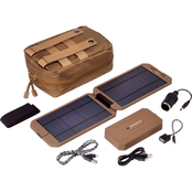 Brigade QM Powertraveller Extreme Tactical 12,000 mAh Battery and Solar Charger Kit