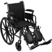 Drive Medical Cruiser III Wheelchair with Leg Rests, 18 in. Seat