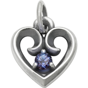 James Avery Avery Remembrance Heart Pendant with Lab Created Alexandrite