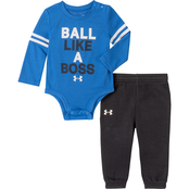 Under Armour Infant Boys Ball Like A Boss Bodysuit and Jogger Set