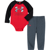 Under Armour Infant Boys Bandit Camo Bodysuit and Jogger Set
