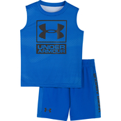 Under Armour Infant Boys Sync Logo Tank and Shorts 2 pc. Set