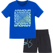 Under Armour Infant Boys Twist Tee and Shorts Set
