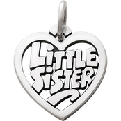 James Avery Little Sister Heart Charm