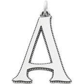 James Avery Vintage Alphabet A Pendant