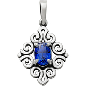 James Avery Scrolled Pendant with Gemstone