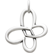 James Avery Linked Heart Butterfly Pendant