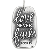 James Avery Sterling Silver Love Never Fails Charm