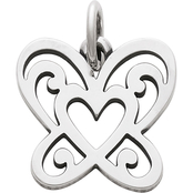 James Avery Open Butterfly Heart Charm