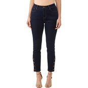 Passports Skinny Button Ankle Jeans