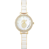 Tommy Bahama Women's Golden Pineapple Watch 26mm TB00082-01