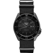 Seiko Men's Sports Series 5 Automatic Black PVD Stainless Steel Watch SRPD79