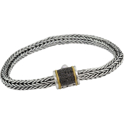 Effy Sterling Silver  and 18K Yellow Gold 1/5 CTW Treated Black Diamond Bracelet