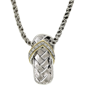 Effy Sterling Silver and 18K Yellow Gold Diamond Accent Pendant