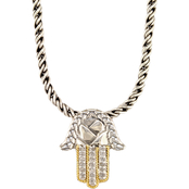 Effy Sterling Silver over 18K Yellow Gold Diamond Accent Pendant